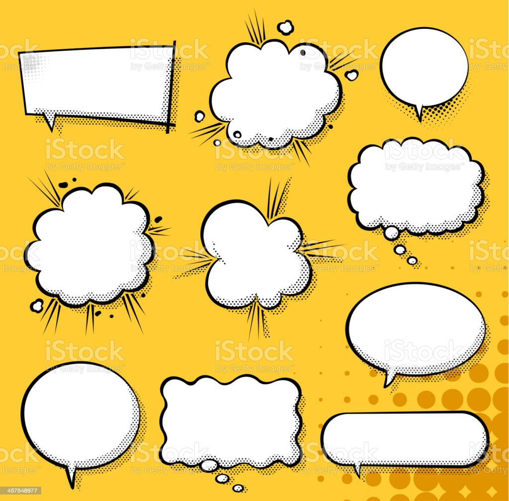 exploding speech bubble vector art illustration