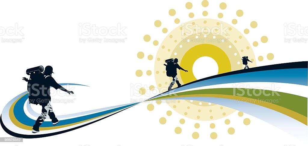 Exploration vector art illustration