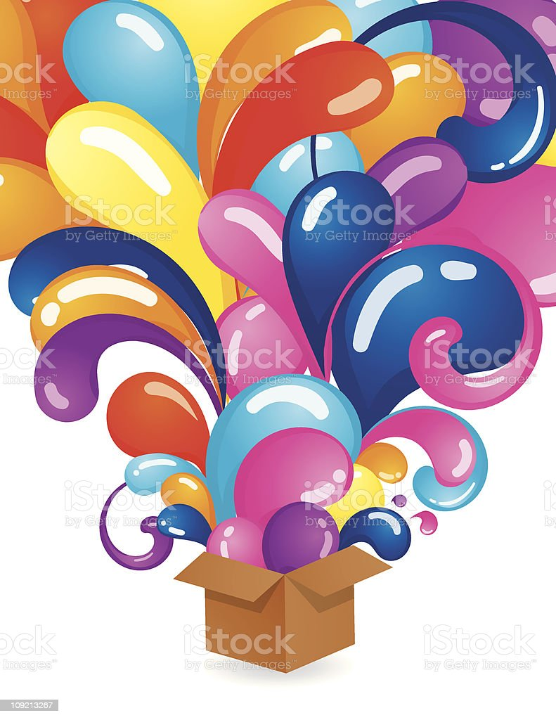 Explosian from box royalty-free stock vector art