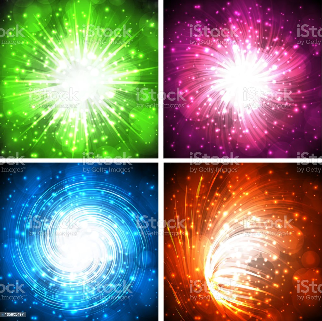 Explosion backgrounds royalty-free stock vector art