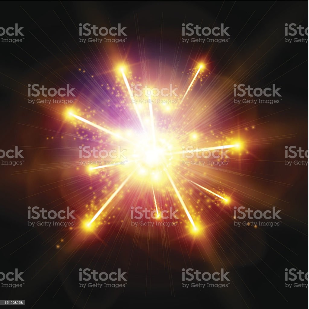 Explosion / Big Bang vector art illustration
