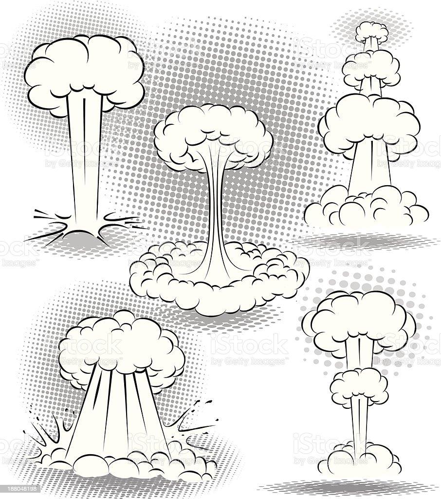 Explosion Bubbles vector art illustration