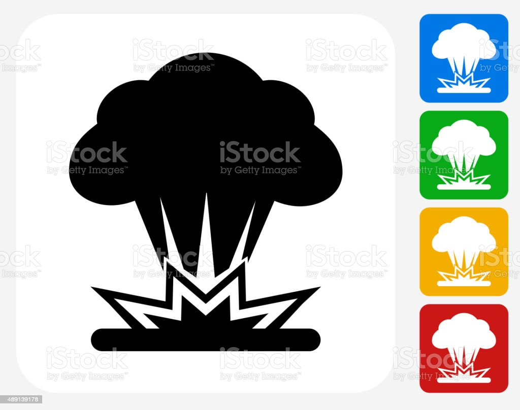 Explosion Icon Flat Graphic Design vector art illustration