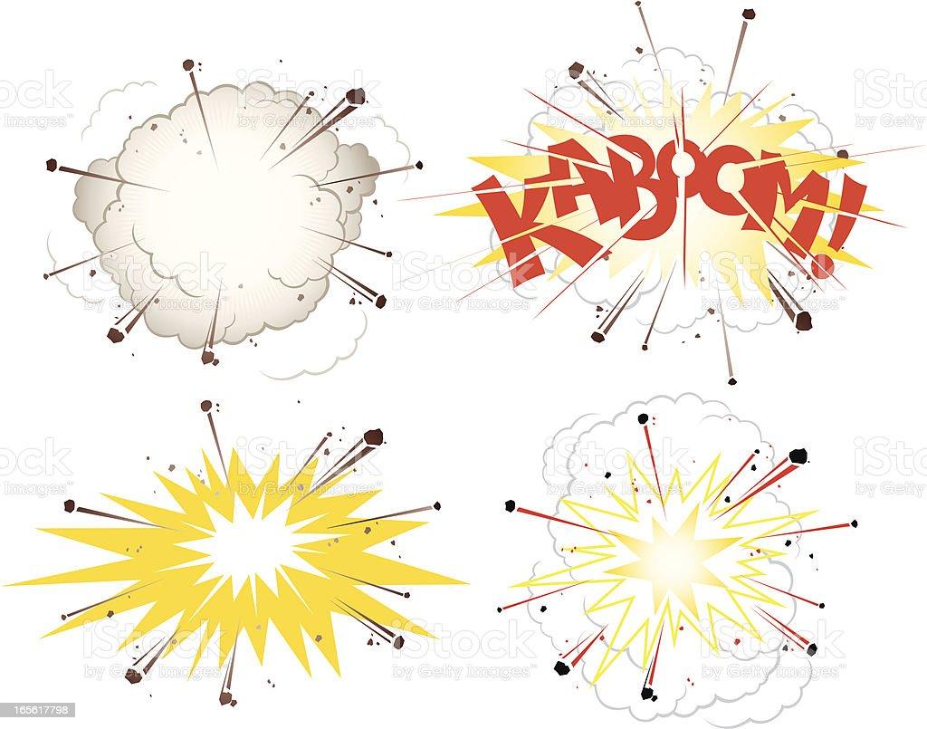 explosion kaboom vector art illustration