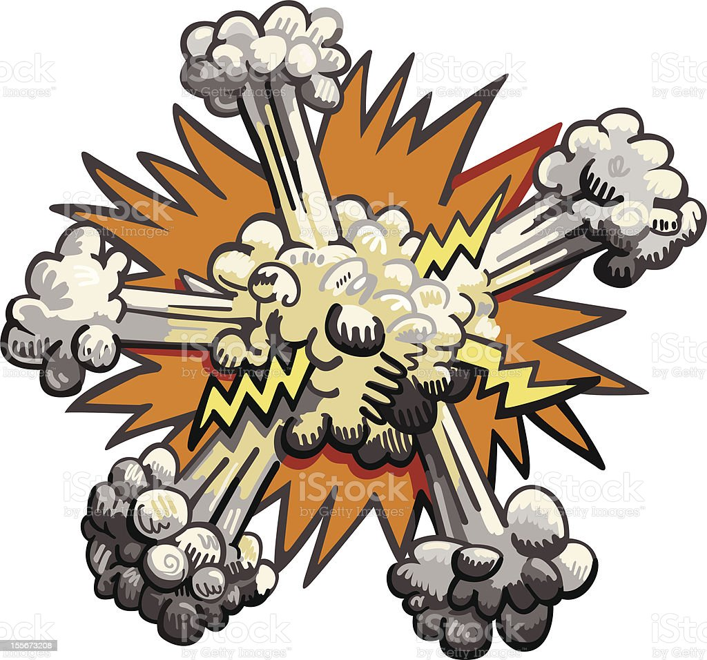 explosion on white background royalty-free stock vector art