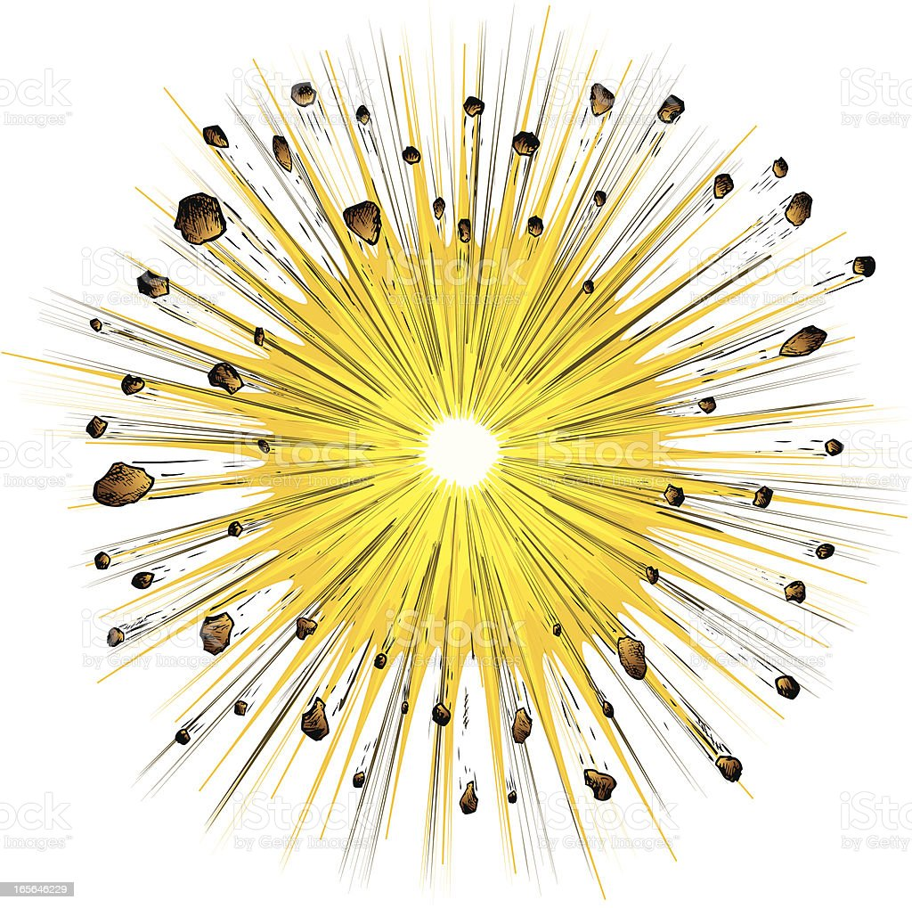 Explosion on white vector art illustration