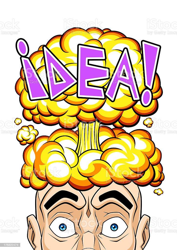 Explosive idea royalty-free stock vector art