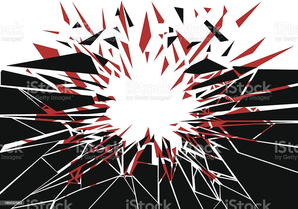 Explosive Impact vector art illustration