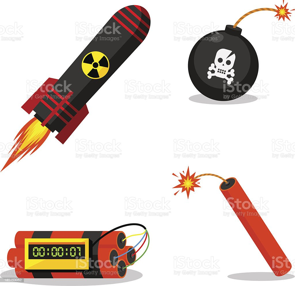Explosive objects royalty-free stock vector art