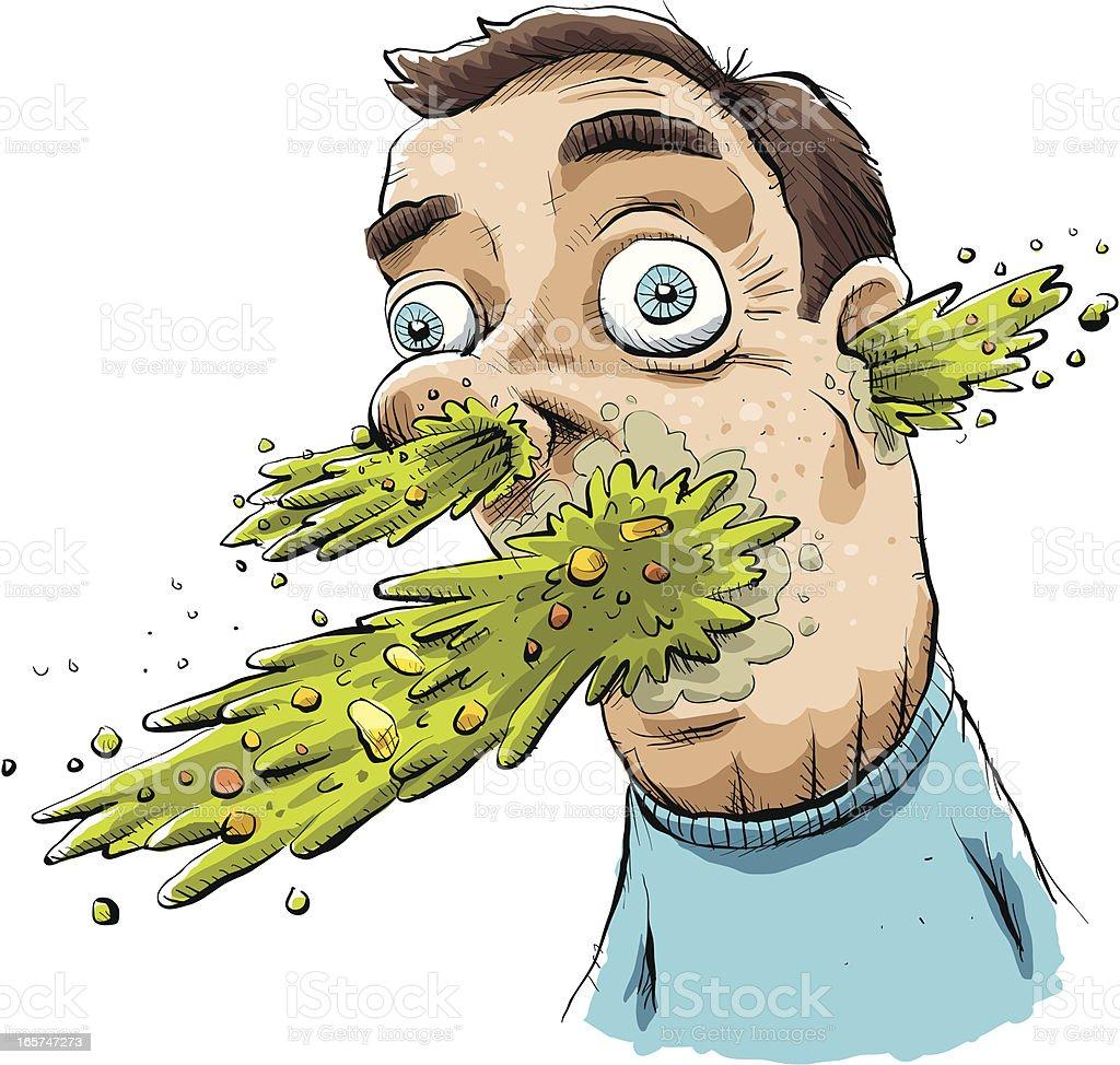 Explosive Vomit vector art illustration