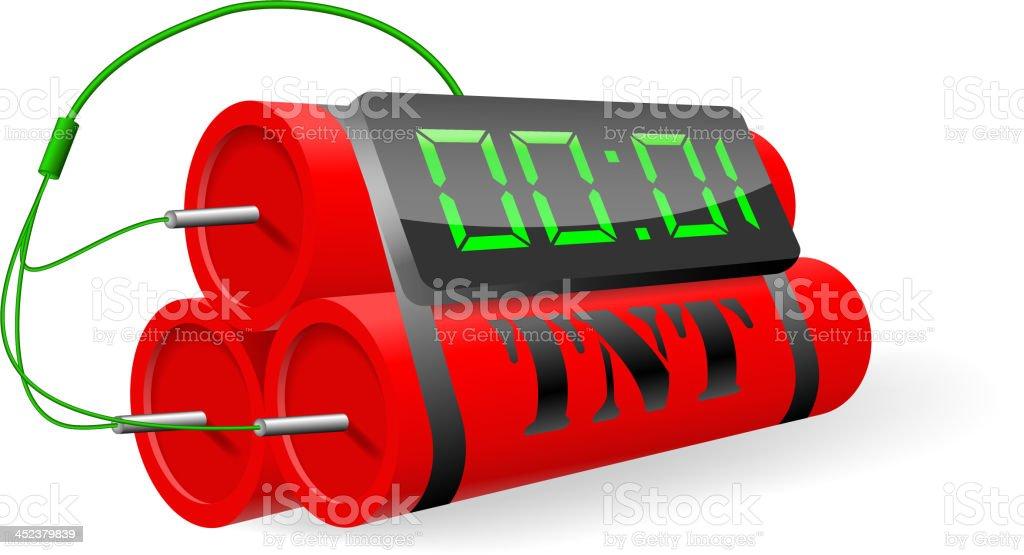 Explosives with digital alarm clock. Vector illustration royalty-free stock vector art