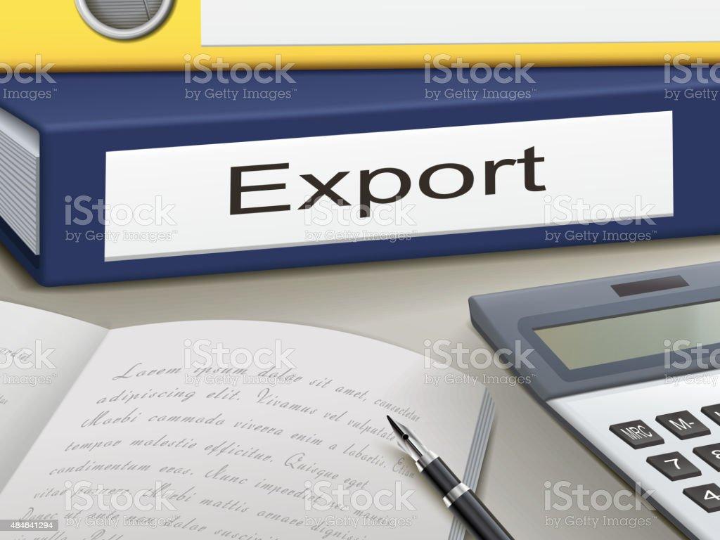 export binders vector art illustration