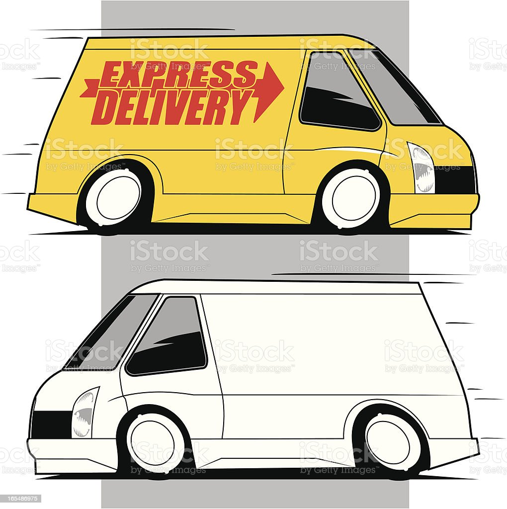 Express Delivery Van royalty-free stock vector art