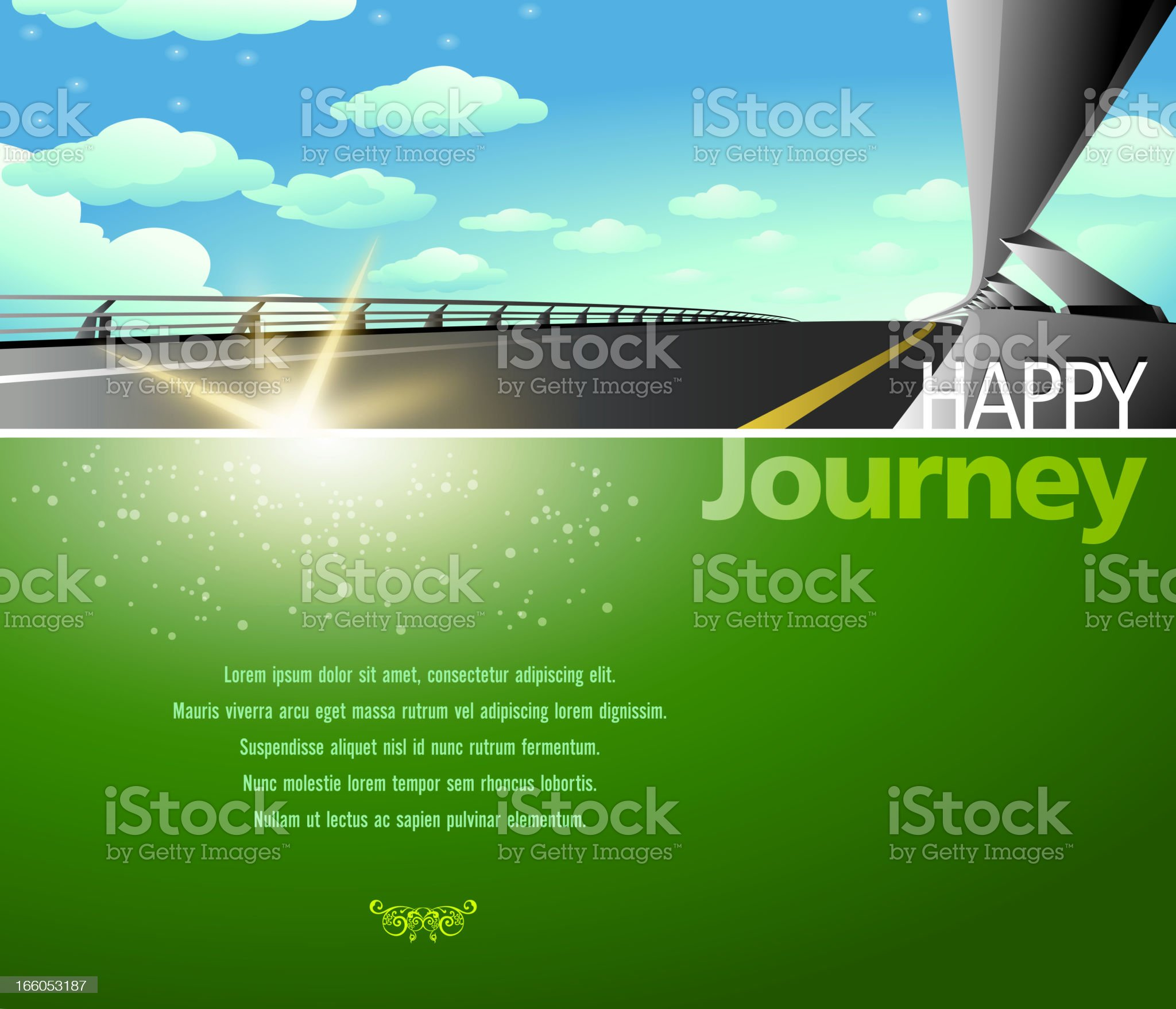 Express Highway Background royalty-free stock vector art
