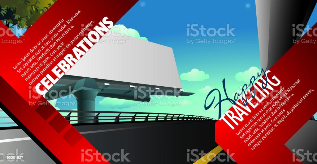 Express Highway Background with Copy space royalty-free stock vector art