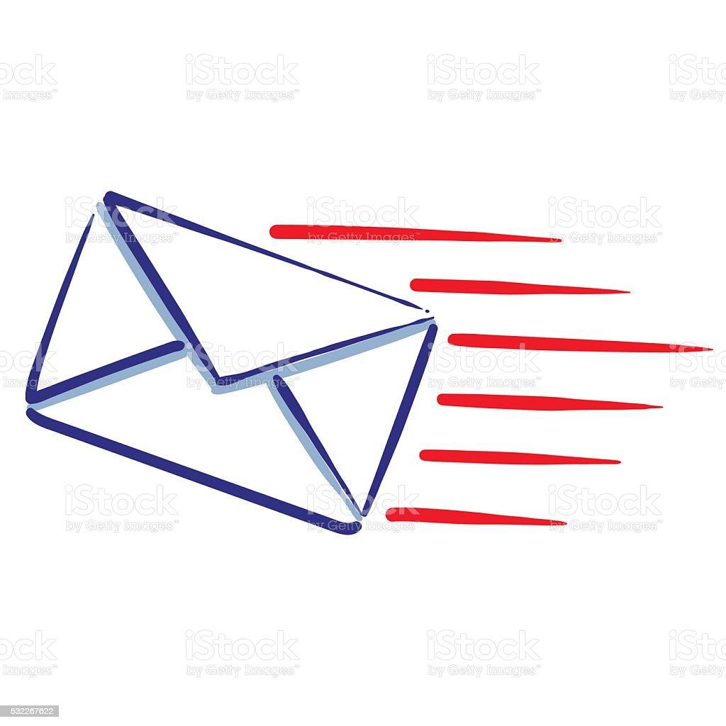 Message de courrier Express stock vecteur libres de droits libre de droits