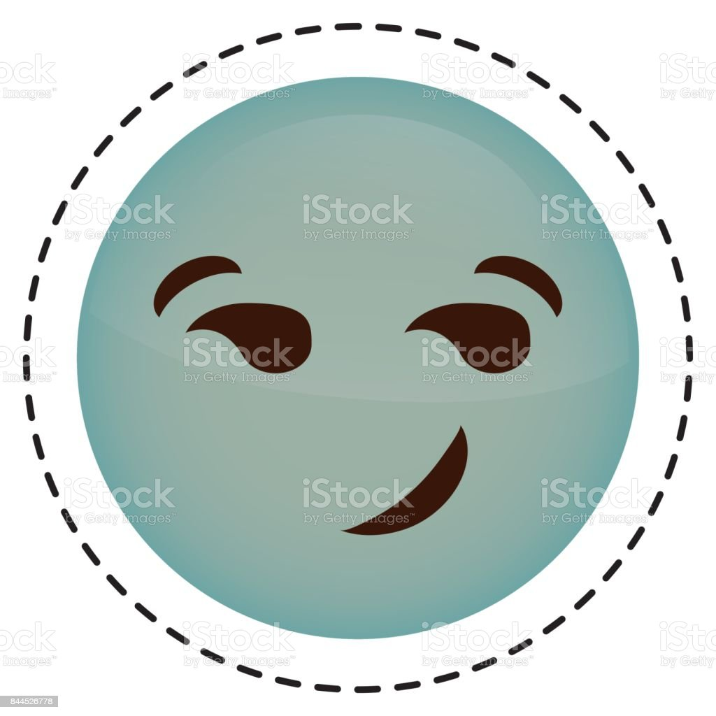 Expression face emoji icon vector art illustration