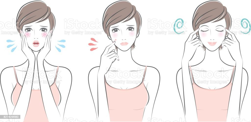 Expression of the woman vector art illustration