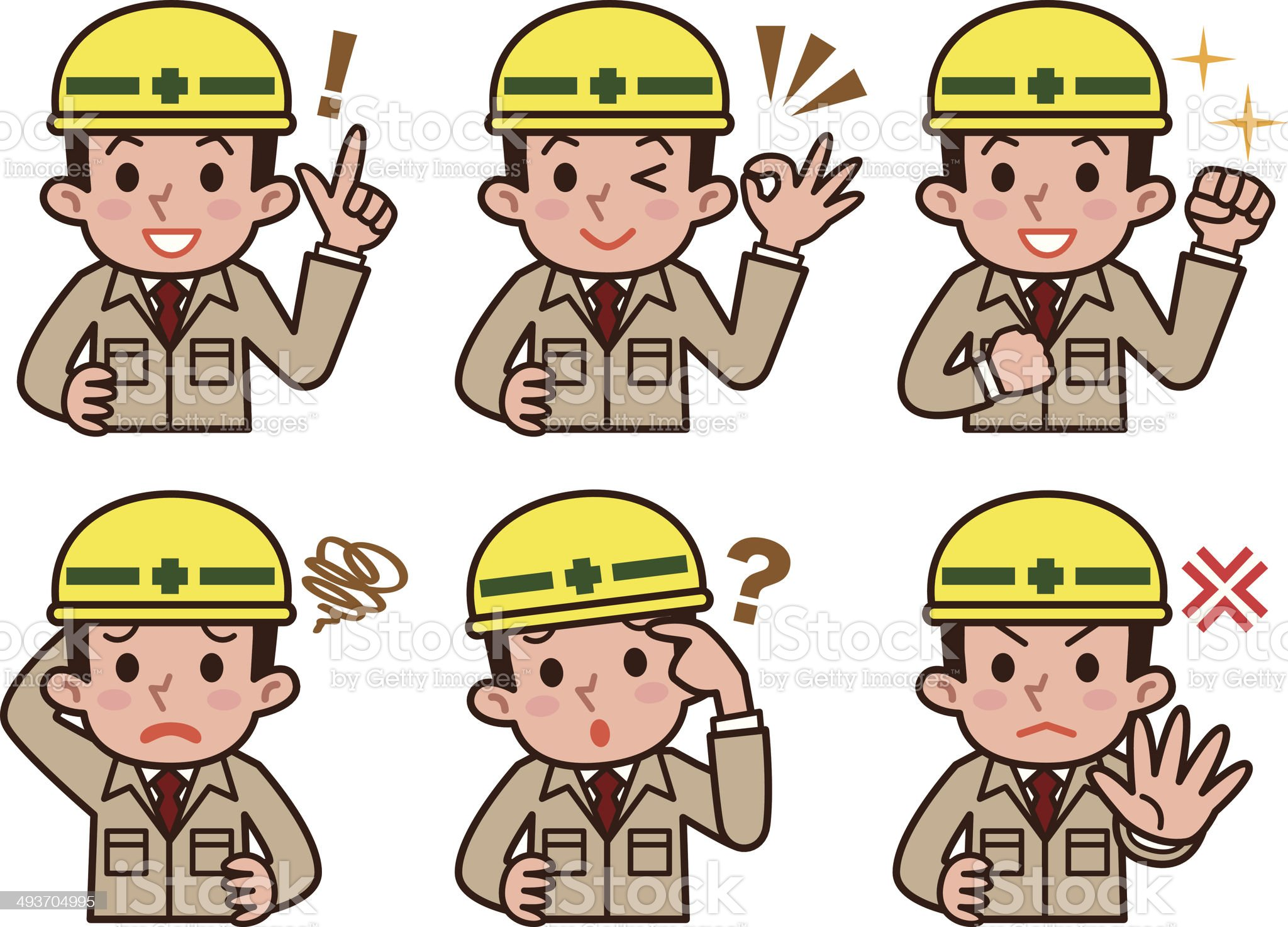 Expression of workers royalty-free stock vector art