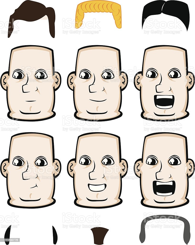Expressions - Happy royalty-free stock vector art