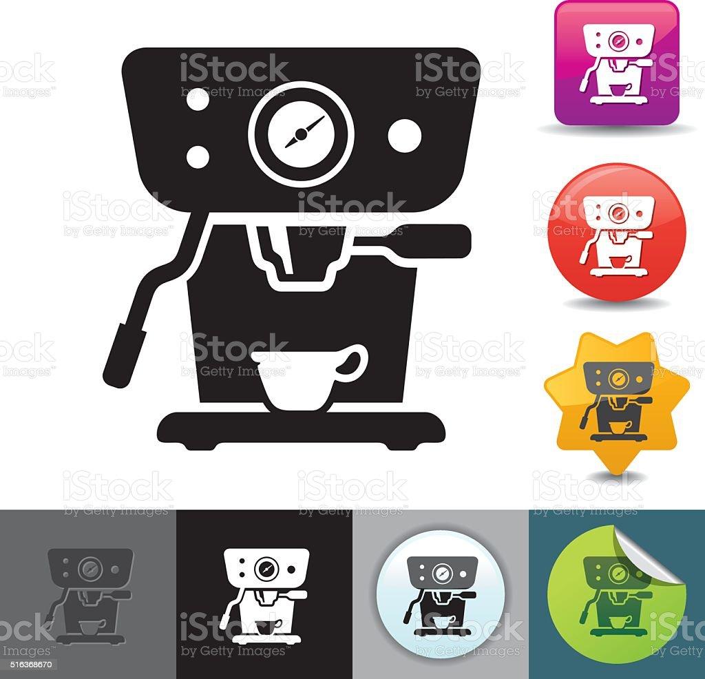 Expresso machine icon | solicosi series vector art illustration