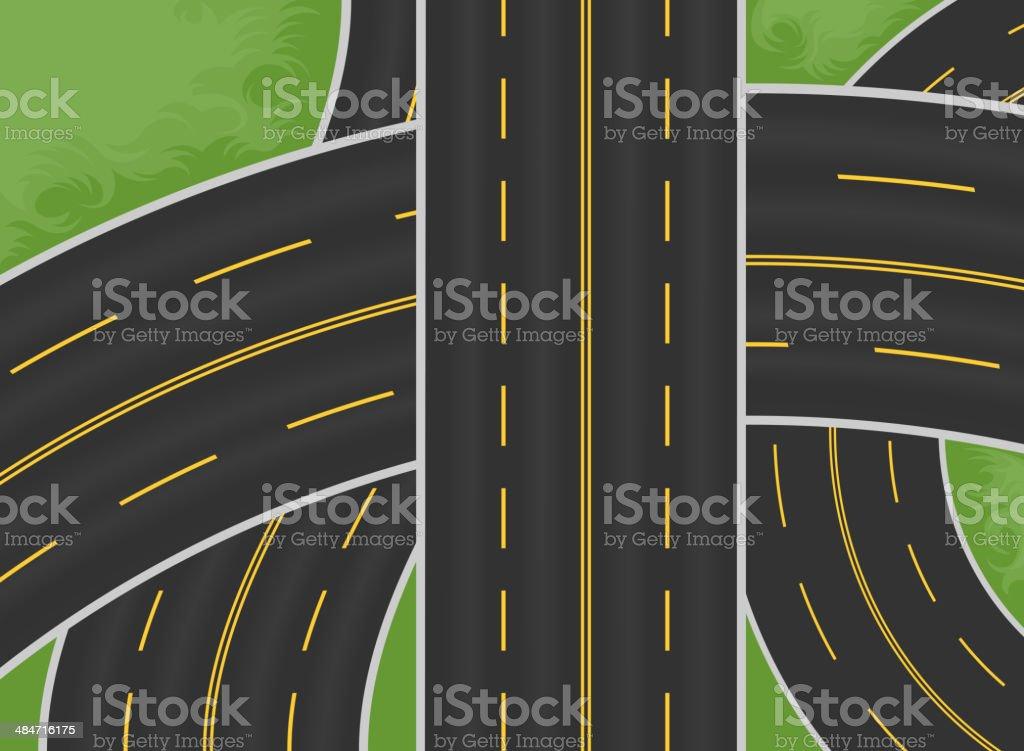 Expressway vector art illustration