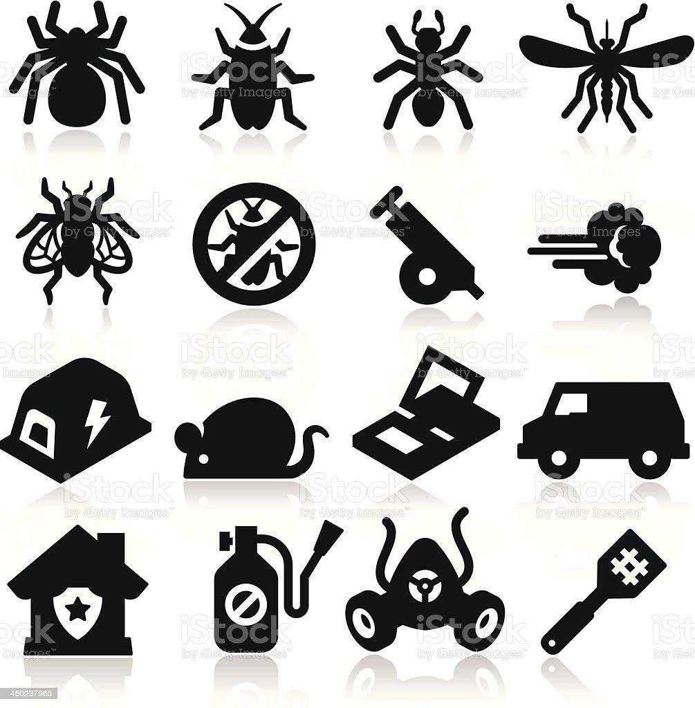 Exterminator Icons vector art illustration
