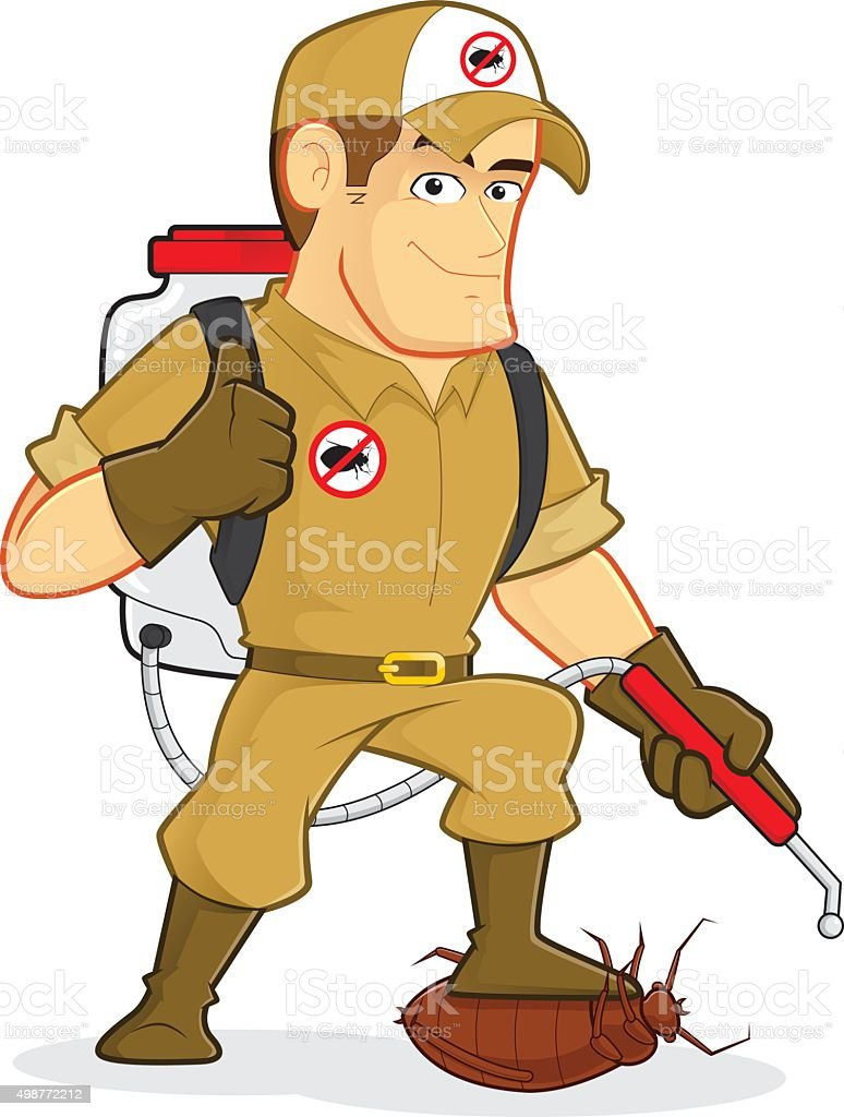 Exterminator or Pest Control vector art illustration