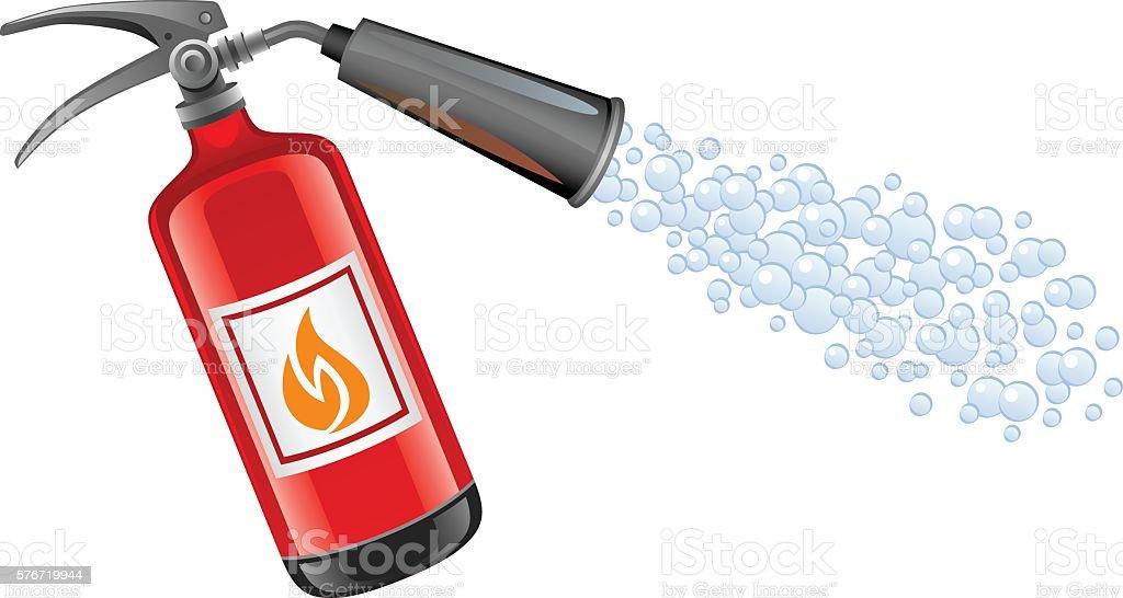 Extinguisher vector art illustration