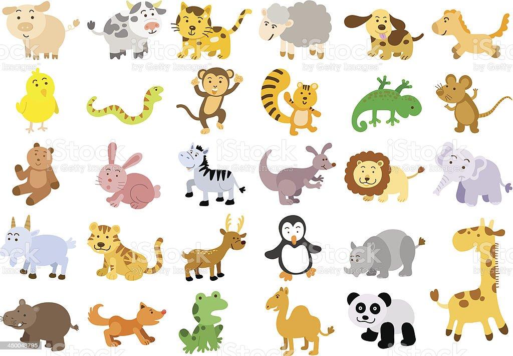 Extra large set of animals. vector art illustration