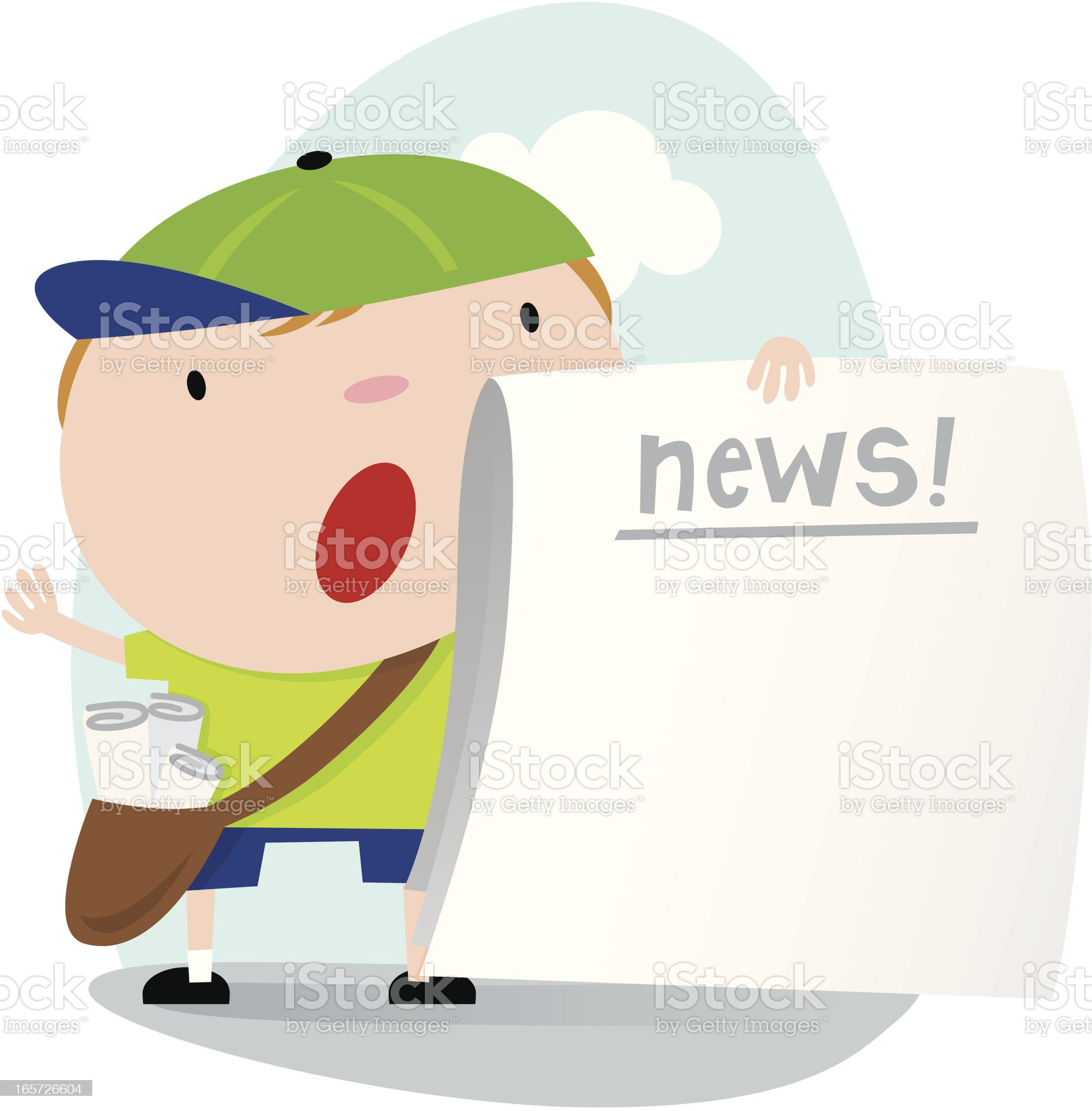 Extra! Read all about it! royalty-free stock vector art