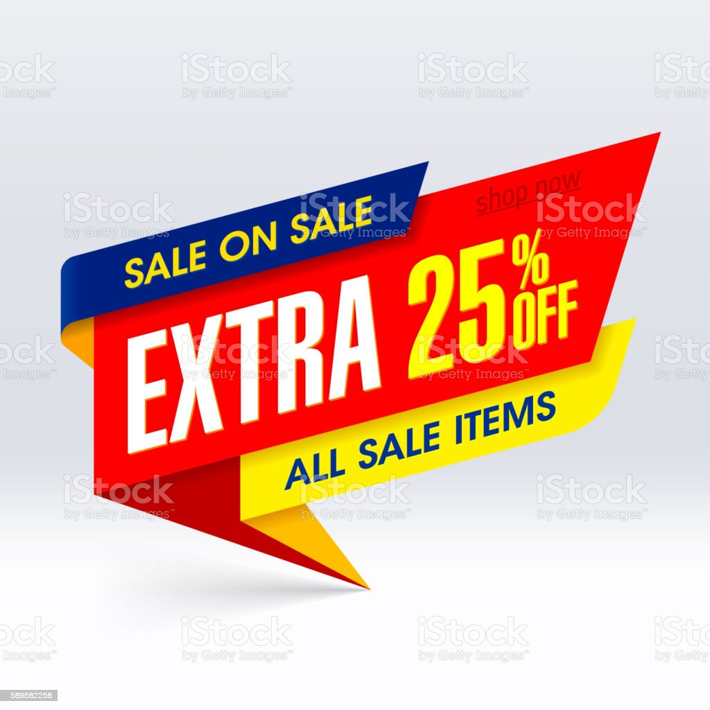 Extra Sale banner vector art illustration