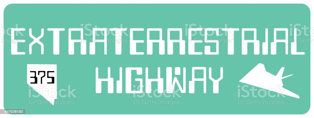 Extraterrestrial Highway Sign vector art illustration
