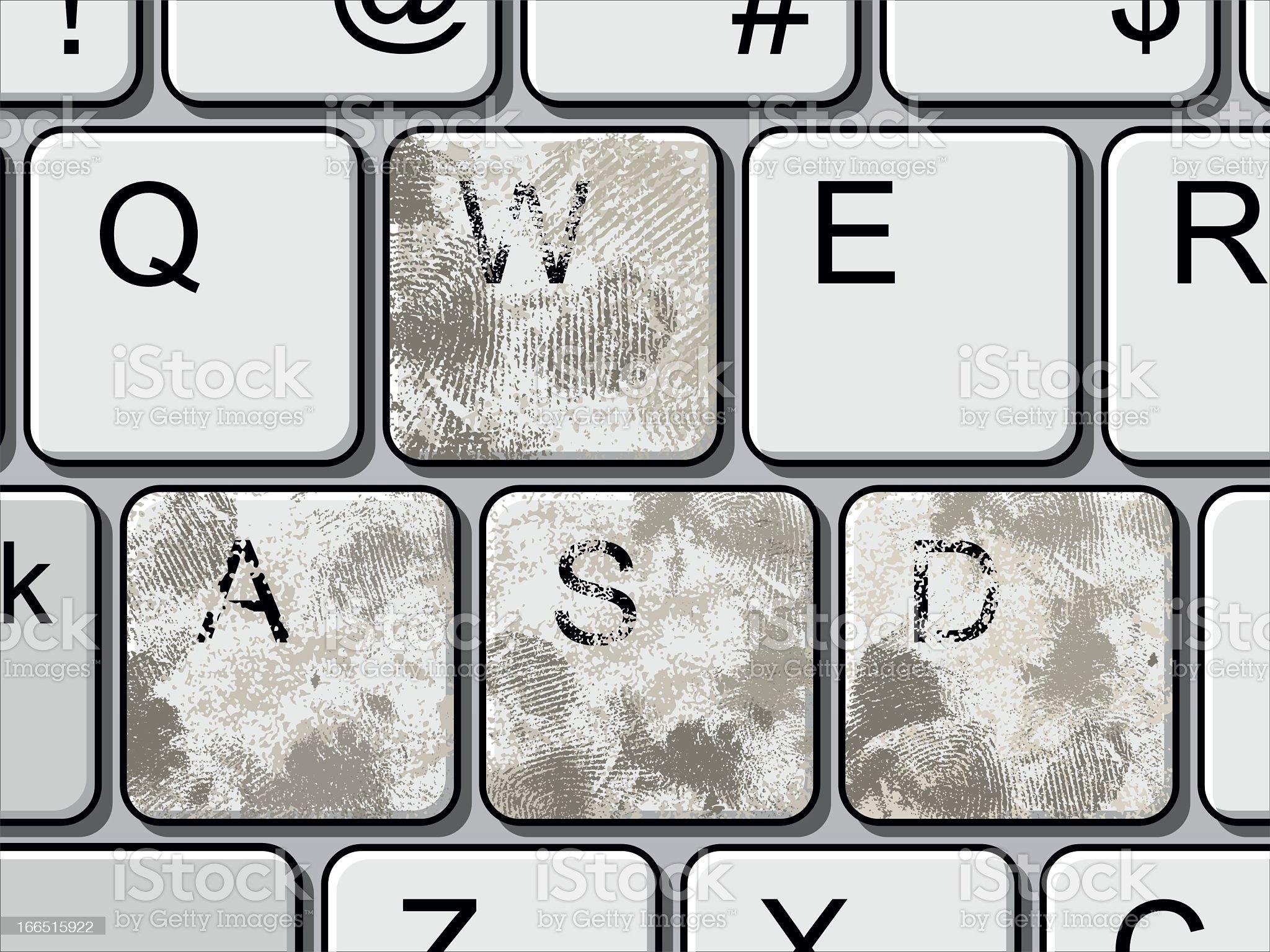 Extreme Dirty Gaming Keyboard royalty-free stock vector art
