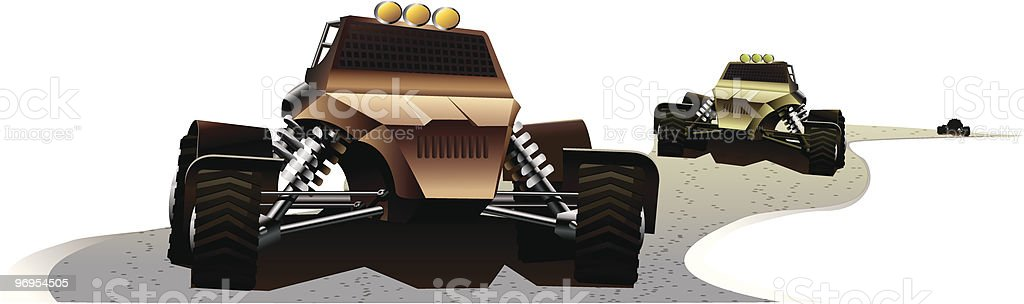 Extreme Race royalty-free stock vector art
