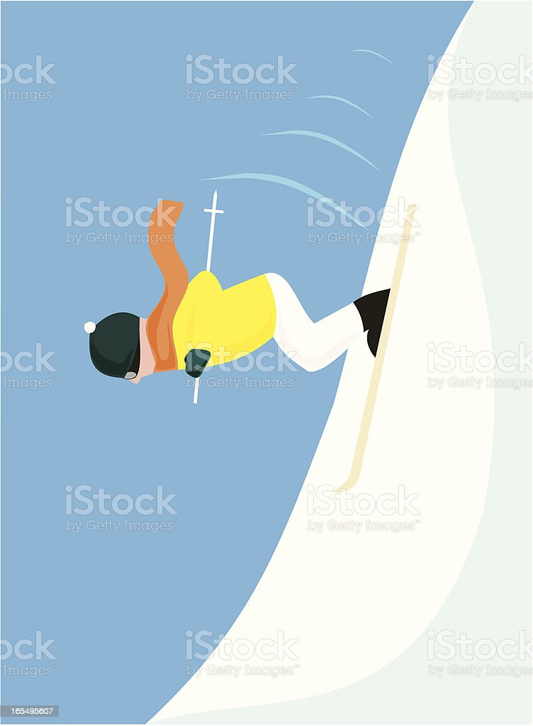 Extreme Skiing royalty-free stock vector art