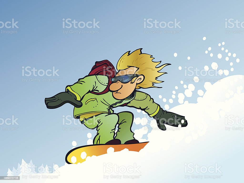Extreme snowboarder royalty-free stock vector art