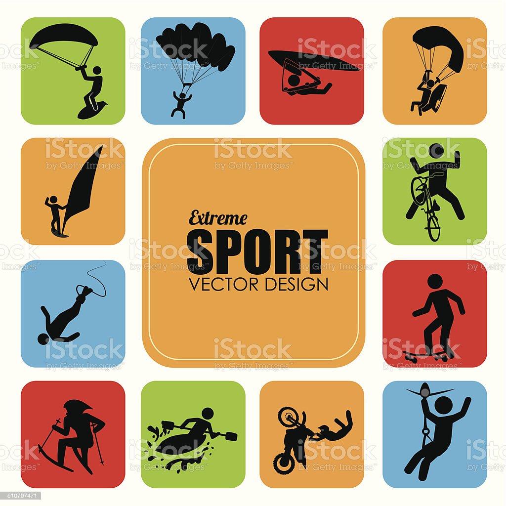 Extreme sport design vector art illustration