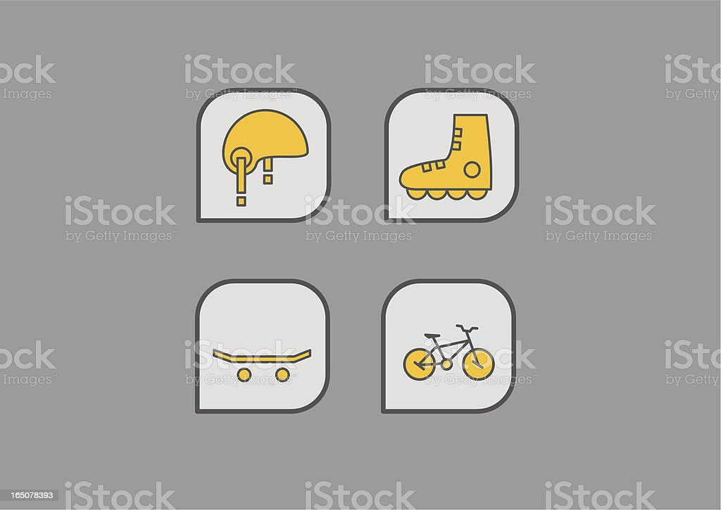 extreme sport icons royalty-free stock vector art