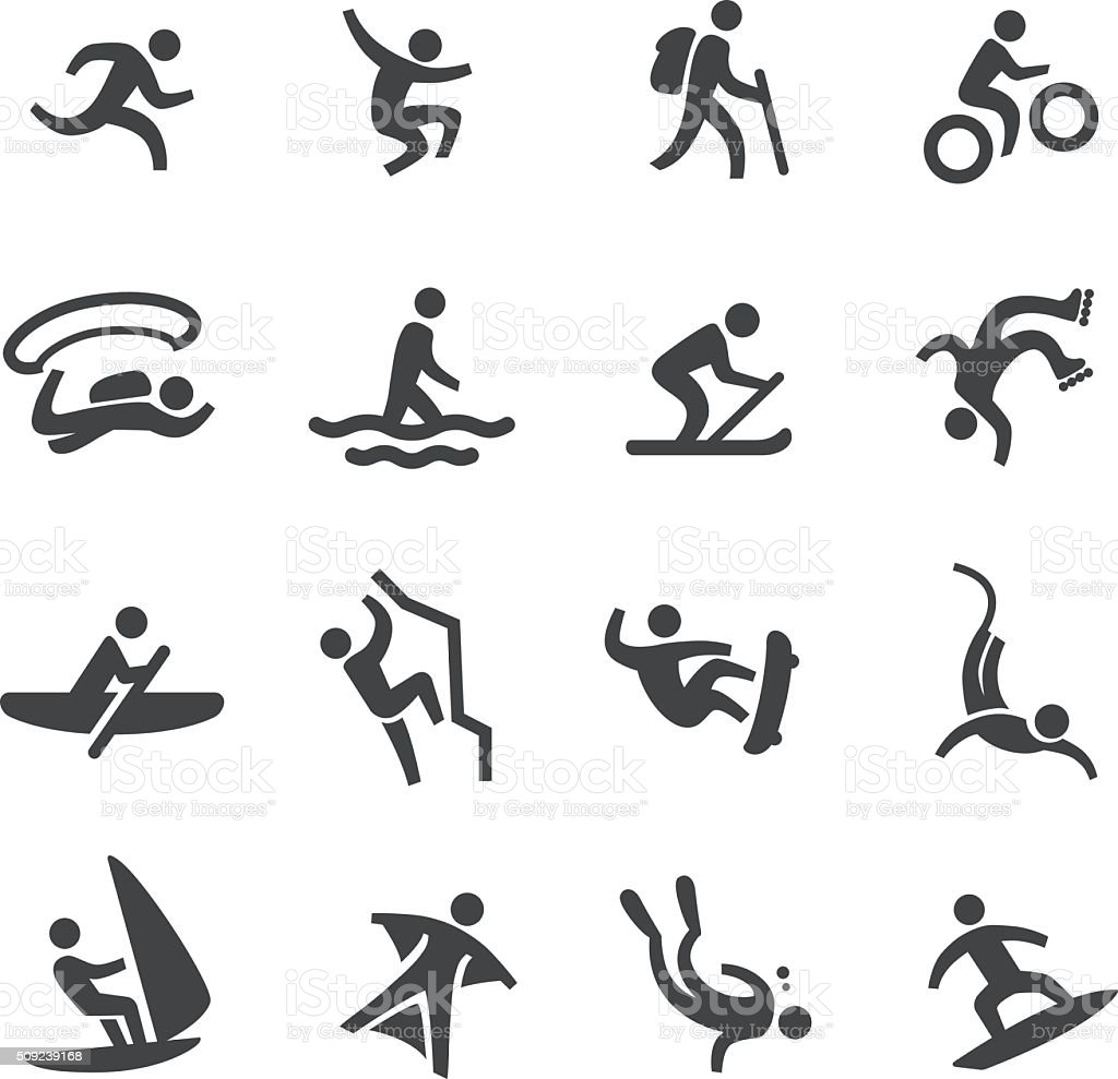 Extreme Sports Icons - Acme Series vector art illustration