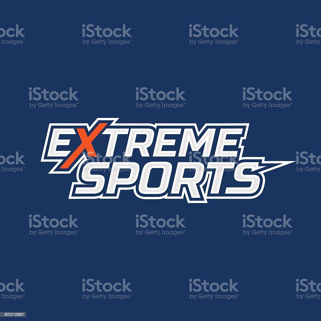 Extreme sports logo vector art illustration