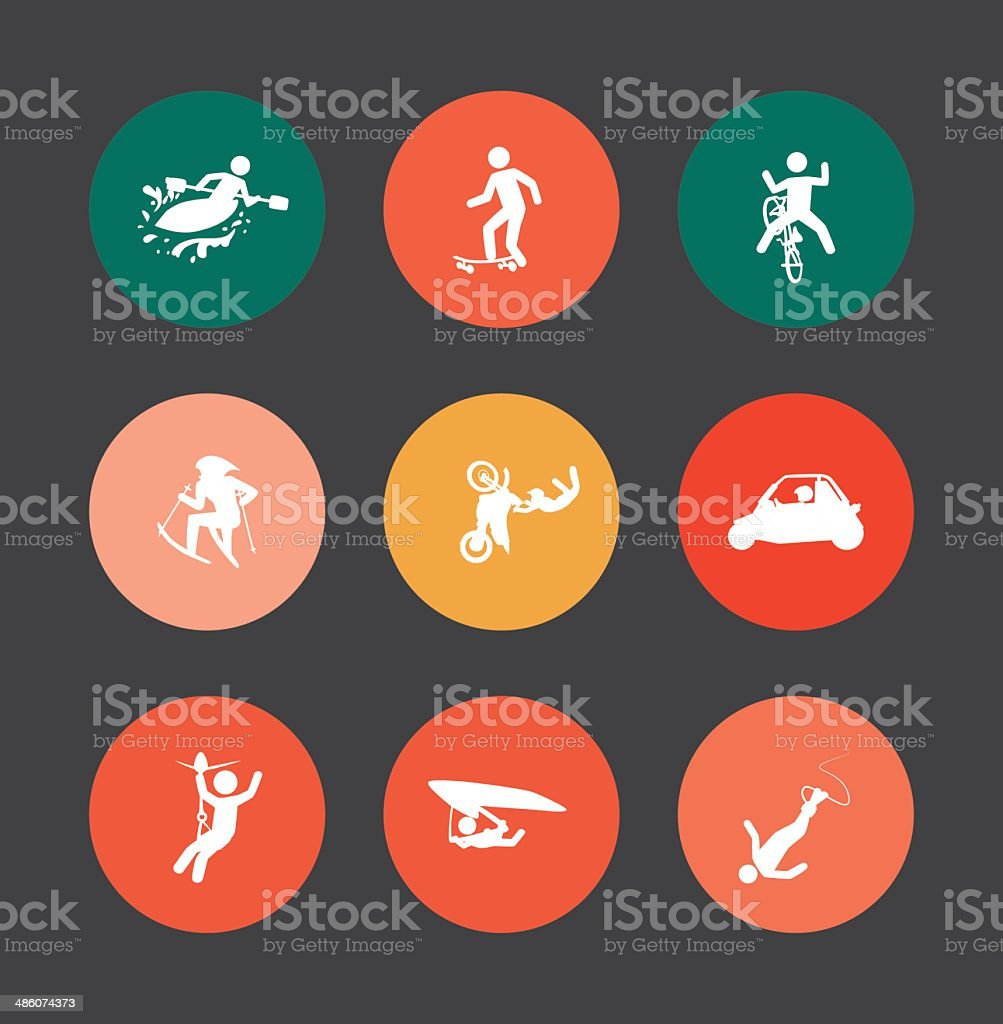 extreme sports royalty-free stock vector art
