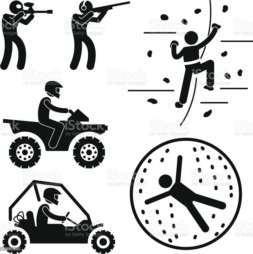 Extreme Tough Game for Man Pictogram royalty-free stock vector art