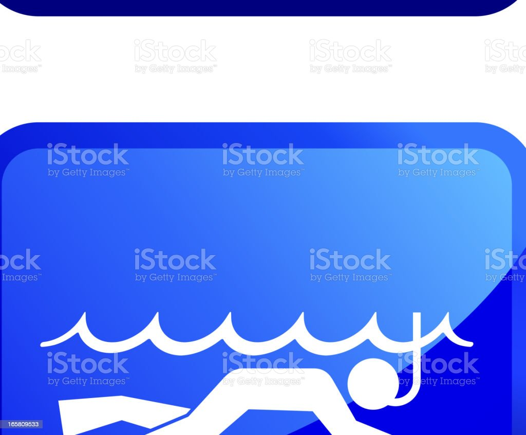 Extreme Water Activities royalty free vector icon set stickers royalty-free stock vector art