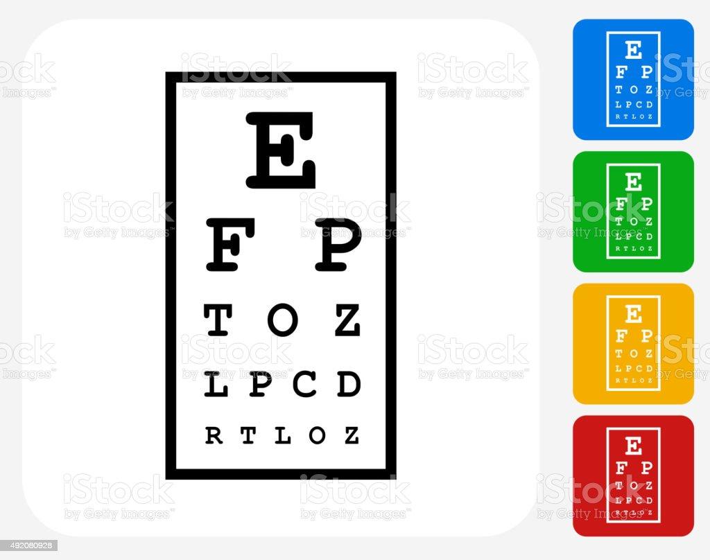 Eye Chart Icon Flat Graphic Design vector art illustration