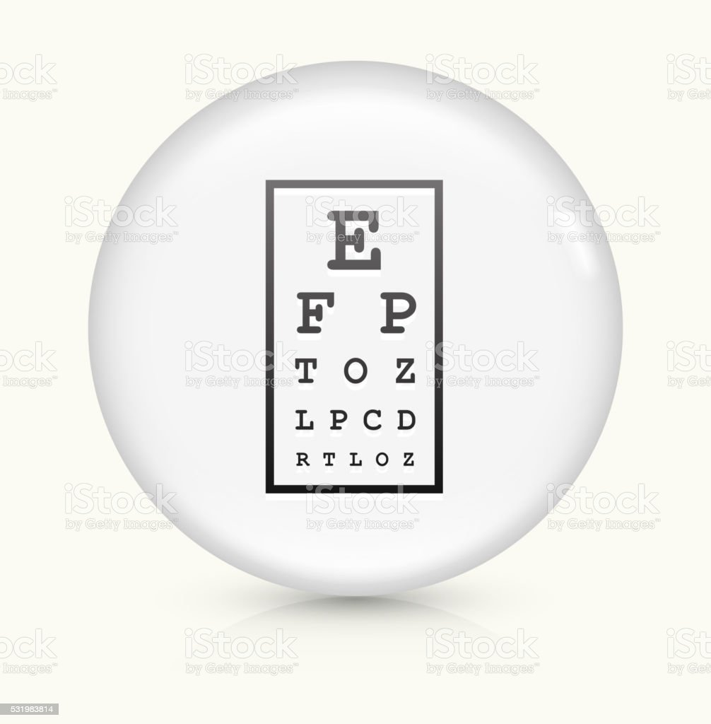 Eye Chart icon on white round vector button vector art illustration