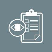 eye check icon vector