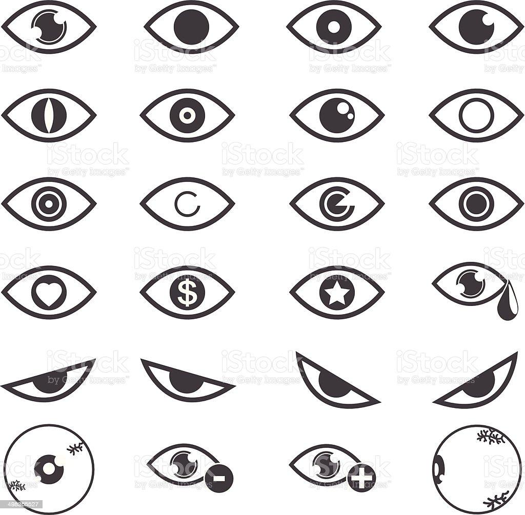 Eye designs over white background. vector  illustrations EPS10 vector art illustration