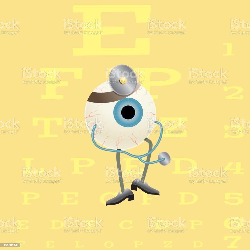 Eye Doctor vector art illustration