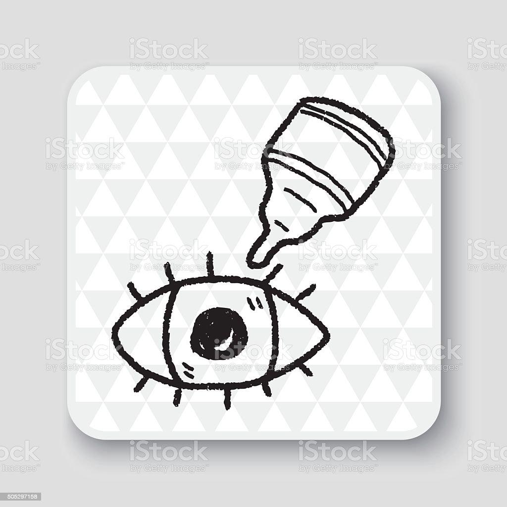eye drop doodle vector art illustration